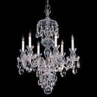 Crystorama 1146-CH-CL-MWP Traditional Crystal Small 6 Candle 25 Inch Diameter Polished Chrome Chandelier Light Fixture