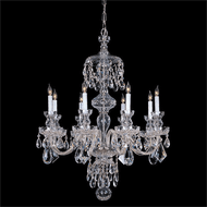 Crystorama 1148-CH-CL-MWP Traditional Crystal Polished Brass Chandelier Light