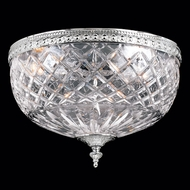Crystorama 117-12-CH Serene 12 inch crystal flush mount in chrome