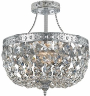 Crystorama 119-10-CH-CL-SAQ Ceiling Mount Polished Chrome Ceiling Lighting