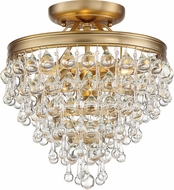 Crystorama 130-VG-CEILING Calypso Vibrant Gold Ceiling Lighting
