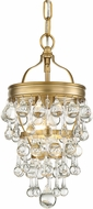 Crystorama 131-VG Calypso Vibrant Gold Mini Pendant Light