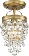 Crystorama 131-VG-CEILING Calypso Vibrant Gold Ceiling Light