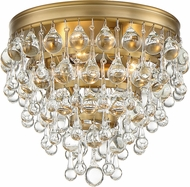 Crystorama 135-VG Calypso Vibrant Gold Ceiling Light Fixture