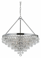 Crystorama 136-CH Calypso Polished Chrome Finish 20 Inch Diameter Crystal Chandelier Lamp - Small