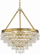 Crystorama 136-VG Calypso Vibrant Gold 20  Lighting Pendant