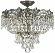 Crystorama 1483-HB-CL-I Majestic Historic Brass Ceiling Lighting