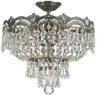 Crystorama 1483-HB-CL-S Majestic Historic Brass Ceiling Light