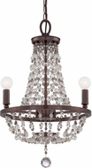 Crystorama 1543-CB-MWP Channing Chocolate Bronze Mini Chandelier Lighting