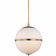 Crystorama 2016-AG Truax Contemporary Aged Brass Pendant Lighting