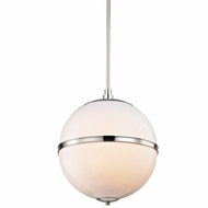 Crystorama 2016-PN Truax Modern Polished Nickel Pendant Light