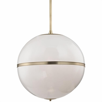 Crystorama 2030-AG Truax Contemporary Aged Brass Lighting Pendant