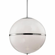 Crystorama 2030-PN Truax Modern Polished Nickel Pendant Lamp