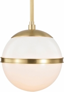 Crystorama 2107-AG Truax Contemporary Aged Brass Mini Hanging Lamp