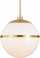Crystorama 2112-AG Truax Contemporary Aged Brass Pendant Light Fixture