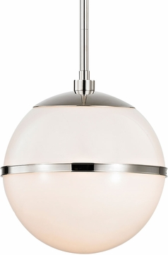 Crystorama 2112-PN Truax Modern Polished Nickel Pendant Lighting Fixture