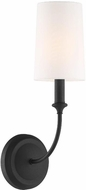 Crystorama 2241-BF Sylvan Black Forged Wall Lamp