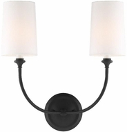 Crystorama 2242-BF Sylvan Black Forged Lighting Sconce