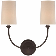 Crystorama 2242-DB Sylvan Dark Bronze Lamp Sconce