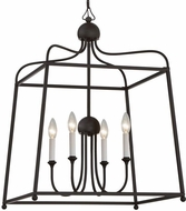 Crystorama 2244-DB-NOSHADE Sylvan Dark Bronze 22  Lighting Pendant