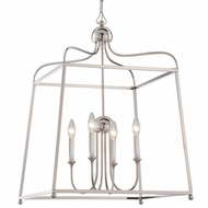 Crystorama 2244-PN-NOSHADE Sylvan Polished Nickel 21.5  Foyer Light Fixture