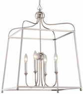 Crystorama 2244-PN-NOSHADE Sylvan Polished Nickel 22  Pendant Lamp