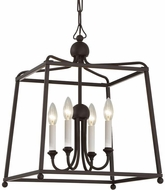 Crystorama 2245-DB-NOSHADE Sylvan Dark Bronze 16  Hanging Lamp