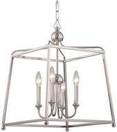 Crystorama 2245-PN-NOSHADE Sylvan Polished Nickel 16  Hanging Light