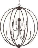 Crystorama 2246-DB-NOSHADE Sylvan Modern Dark Bronze Chandelier Lighting