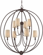 Crystorama 2246-DB Sylvan Contemporary Dark Bronze Chandelier Light