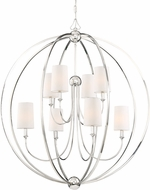 Crystorama 2246-PN Sylvan Contemporary Polished Nickel Lighting Chandelier