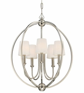 Crystorama 2247-PN Sylvan Polished Nickel Mini Lighting Chandelier