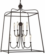 Crystorama 2248-DB-NOSHADE Sylvan Dark Bronze Foyer Lighting