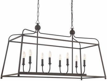 Crystorama 2249-DB-NOSHADE Sylvan Dark Bronze Kitchen Island Lighting