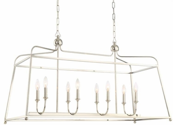 Crystorama 2249-PN-NOSHADE Sylvan Polished Nickel Island Light Fixture