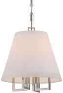 Crystorama 2254-PN Westwood Modern Polished Nickel 14  Pendant Light Fixture
