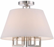 Crystorama 2255-PN-CEILING Westwood Contemporary Polished Nickel Flush Mount Ceiling Light Fixture