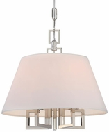 Crystorama 2255-PN Westwood Contemporary Polished Nickel 16  Pendant Lighting Fixture