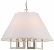 Crystorama 2256-PN Westwood Contemporary Polished Nickel 24  Hanging Pendant Lighting