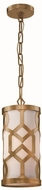 Crystorama 2260-AG Jennings Aged Brass Mini Drum Hanging Lamp