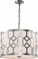 Crystorama 2265-PN Jennings Polished Nickel Drum Pendant Lighting Fixture