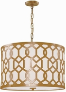 Crystorama 2266-AG Jennings Aged Brass Drum Hanging Pendant Lighting