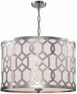 Crystorama 2266-PN Jennings Polished Nickel Drum Hanging Pendant Light