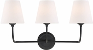 Crystorama 2443-OP-BF Sylvan Contemporary Black Forged 3-Light Bath Lighting