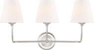 Crystorama 2443-OP-BN Sylvan Modern Brushed Nickel 3-Light Bathroom Light