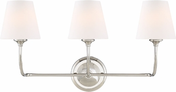 Crystorama 2443-OP-CH Sylvan Contemporary Polished Chrome 3-Light Bathroom Lighting Fixture