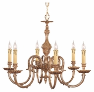 Crystorama 2606-OB Novella Olde Brass Finish 25 Inch Diameter 6 Candle Lighting Chandelier - Traditional