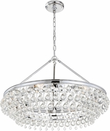 Crystorama 275-CH Calypso Polished Chrome Chandelier Lamp