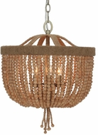 Crystorama 277-BS Eva Burnished Silver Hanging Light Fixture