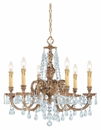 Crystorama 2806-OB-CL-MWP Novella Clear Crystal Olde Brass 25 Inch Diameter Small Chandelier Light